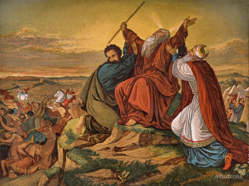 Image result for moses and the battle at rephidim